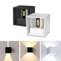 LED 벽 램프 IP65 방수 6W 12W 실내 및 야외 조정 가능한 벽 라이트 안뜰 현관 복도 침실 벽 SCONCE