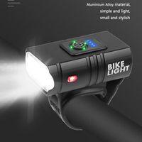Frente Ciclo USB LED recargable de bicicletas luz conjunto de bicicletas T6 luz delantera COB trasera Montaña Volver lámpara de la linterna