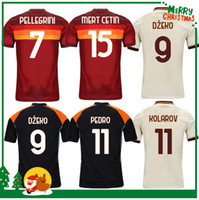 20 21 Roma Dzeko Perotti Paste Zaniolo de Rossi Soccer Jersey Totti Jersey 2020 2021 Hombres adultos + Kit Kit Kit Camisa de Fútbol
