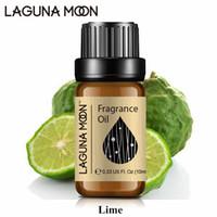 Lagunamoon Lime 10ml Fragrância óleo vegetal Natural óleos essenciais linho fresco Morango coco Vanilla Mandarim Oil Perfume