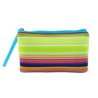 30pcs lot sublimation neoprene pouch with wristlet sunflower leopard cosmetic bag pencil case lady clutch bag