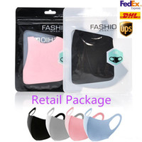 DHL Free 3-7 days to US Anti Dust Face Cover PM2.5 Mask Respirator Dustproof Anti-bacterial Washable Reusable Ice Silk Cotton Mask
