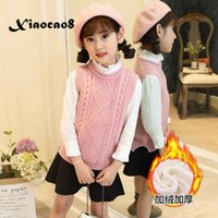 3- 15Years Teen Girls Knitted Sweaters Vest Solid O Neck Plus...
