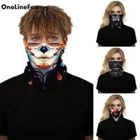 Sciarpe Onelinefox Halloween Skull Bandiera Nazionale Stampata Faccia Magia Sciarpa Sportiva Copricapo Sportivo Guida per ciclismo Collo Fascia Bandana1