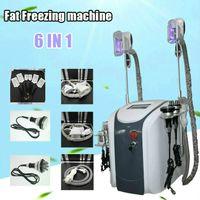 Cryolipolysize Fat Fait Machine Machine Липолязер Личное использование Криотерапия Липо Лазерная Ультразвуковая кавитация РЧ похудение 3 Cryo Heads Работает вместе