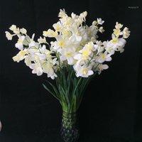 10 pcs Artificial Frésia Flor Borboleta Falsa Orquídea Cattleya Bege / Rosa / Rosa Vermelho / Roxo Cores Cymbidium Orchid Flowers1