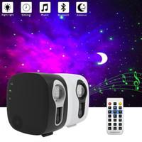 Bluetooth Yıldızlı Gökyüzü Projektör LED Gece Lambası Projektör Galax Nebula Okyanus Müzik Hoparlör Kontrolü Yıldız Ay Gece Lambası