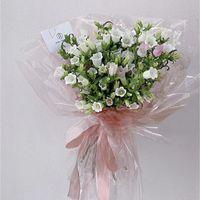 Papel de envoltura de flores de cristal impermeable Flores de San Valentín Papel de envolver de regalo 60 * 60 cm 20pcs / lote Florist Flower Bouquet Packaging 168 N2