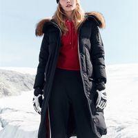 Bosideng Harsh inverno jaqueta mulheres ganso para baixo casaco grande pele natural absorvente impermeável À prova d'água engrossar longo parka b80142154 201211