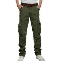 Pantalon cargo hommes combat SWAT armée Pantalon en coton stretch beaucoup de poches souples homme Pantalons Casual Taille Plus 28- 38