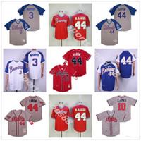 Vintage Atlanta 44 Hank Aaron H.Aaron 3 Dale Murphy 10 Chipper Jones 1957 1963 1973 1974 1974 1974 1982's Beasball Jerseys 01