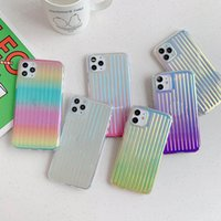 Gouden Terug Gradual Change Color Phone Case TPU Kleurrijke Clear Electroplate Telefoon Cover voor iPhone 7 8Plus XR x max 11 12 Pro