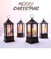 Natal levou lâmpada de óleo pequeno portátil de compras janela lâmpada shopping bar restaurante decoração interior decoração da lâmpada chama decoração suprimentos
