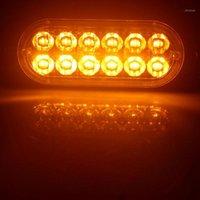 2020 Aozbz Auto 12 LED 36W 12-24V Amber Side Airport Light Ultra-sottile Emergenza Lampeggiante lampeggiante lampeggiante con due modalità di illuminazione1