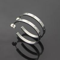 2021 Esagerato gioielli festa 316L acciaio inox 18 carati in argento oro rosa grande cerchio orecchini a cerchio di cerchio gioielli amore per ragazze donne