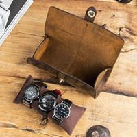 1 pz 3 slot watch roll display box cuoio cuoio cuoio cuoio cuoio orologio da polso con custodia da polso