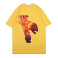 تيز أزياء رجالي مصمم تي شيرت رجالي إمرأة تي شيرت أفضل جودة صفراء تي شيرت المحملات حجم S-XL