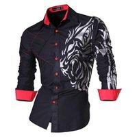 Jeansian 남자 패션 드레스 캐주얼 셔츠 긴팔 슬림 맞는 디자이너 LJ200928