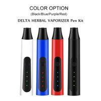 델타 허브 기화기 펜 키트 2200mAh 온도 조절 드라이 허브 기화기 모드 허브 펜 키트 4 색 무료 배송