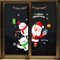 عيد ميلاد سعيد ملصقات الحائط زينة عيد الميلاد سانتا إلك زجاج النوافذ الرئيسية ملصقات 2020 عيد الميلاد الحلي عيد الميلاد NewYear 60PCS T1I2666