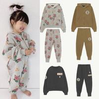 ENKELIBB AW TAO Kids Sweatshirt und Sweatpants Sets Marke Design Kind Jungen Mädchen Mode Outfit Herbst Winter Kleidung Anzüge 201127