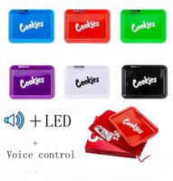 Vassoio di musica LED ricaricabile Cookie California Skittles Alien Labs vetrina LXL1431 Secco Erbe di Rolling Tobacco bagagli Holder controllo vocale