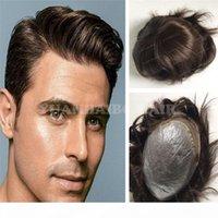 Reemplazo del cabello 6inch SHORT MALAYSIAN VIRGEN VIRGEN EL PELO HUMANO 1B NEGRO PU BASE FRONT FRONT CORDE HOME TOUPEE ENVÍO GRATIS