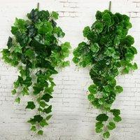 الجملة الاصطناعي الأخضر بوسطن اللبلاب العنب يترك النباتات الاصطناعية الجدار شنقا الخضراء الزخرفية الروطان فاينز نباتات وهمية 1