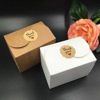 30 unids / lote Caja de pastel de papel kraft natural, caja de embalaje de regalo de fiesta, cookie / caramelo / nueces caja / caja de embalaje de bricolaje, alta calidad 90x60x60mm 3 jllfxt