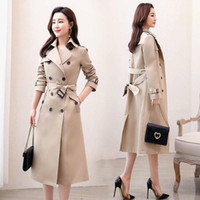 Autumn Windbreaker Women Double Breasted Long Trench Coat With Belt women clothes1
