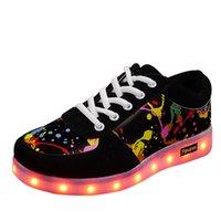 Jawykids 11 Цветов Светодиодные Световые Обувь Любители Светодиодные Обувь для мальчиков Девушки Унисекс Светящиеся кроссовки USB Светлый Люминезные кроссовки