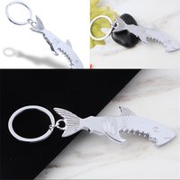 Ouvre-bouteilles Keychain Promotion-cadeau Promotion Chark Personnalisé Shark Shark Forme de zinc en alliage de bière bouteille ouvre-porte-clés Femmes hommes clés sonneries D 120 J2