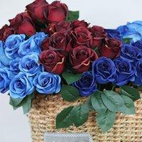 12 Голова Искусственная Роза 20 Цветов Симуляция Роз Цветок Свадьба Украшения Фандец Цветок Валентина Подарок T9i00991