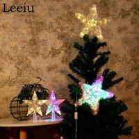 Leeiu 1pc Decorazione della stella di luci albero di Natale più venduti Buon Natale Per la casa natale ha condotto la luce ornamenti Capodanno