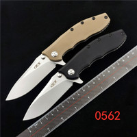 Tolerancia cero ZT 0562 Herderner Slicer Cuchillo plegable Elmax G10 Cojinete al aire libre Camping EDC Cuchillo