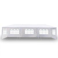 10x30ft 8 الجانبين 2 الأبواب في الهواء الطلق مظلة حفل زفاف خيمة أبيض 3x9m شرفة جافيليون مع أنابيب دوامة أنابيب الساخنة البند في الهواء الطلق حزب من أوين