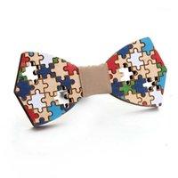 Бантики галстуки деревянные головоломки Bowtie джентльмен ручной работы цветной шаблон галстук партии бабочка уникальна для Man1