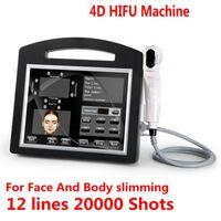 Profesyonel 3D 4D HIFU 12 Hatları 20000 Çekim Yüksek Yoğunluklu Odaklanmış Ultrason HIFU Yüz Germe Makinesi Kırışıklık Kaldırma Yüz Vücut Zayıflama için