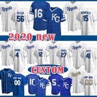 Kansas Custom City Baseball Jersey 16 Bo Jackson 41 Danny Duffy 2 Alcide Escobar 65 Jake Junis 31 Ian Kennedy 19 Cheslor Cuthbert 5 Brett
