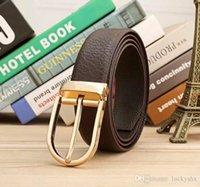 حار بيع أزياء الرجال دبوس مشبك حزام جلد حقيقي دبق جلد البقر الترفيه مشبك جلدية أحزمة القهوة السوداء حجم كبير 105-125 سنتيمتر