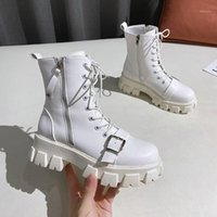 2020 Autumn Women White Boots High Platform Gothic Shoes Fem...