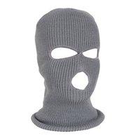 Fashion Knit Ski-Schablonen-Hut Sport Winddichtes Gesicht Cover Beanie Cap-Winter-warmes Radfahren Festliche Party-Masken CYZ2833 Maske