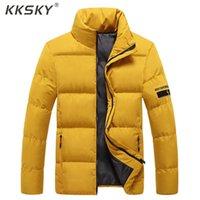 Men's Down Parkas Kksky Hiver Jacket Hommes Manteaux 2021 Mens Vestes Solides Vêtements Chaud Épais Casual Casual Vêtements de dessus Vêtements 5XL