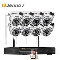 أنظمة Jennov 2MP 1080P NVR WIFI مراقبة الفيديو لاسلكية CCTV كاميرا 8CH في الهواء الطلق للماء IP 66 HD الأمن المنزل