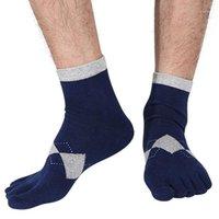 Uomini Sport Sport Socks Finger-Separated Resistente Resistente Blend Caviglia Hosiery Sport Palestra Fitness Ballerina Ballerina Nuovo 1