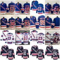 13 Alexis Lafeniere Jerseys de Hóquei Nova York Rangers 10 Artemi Panarin 24 Kaapo Kakko 23 Adam Fox 93 Mika Zibanejad Wayne Gretzky Zuccarello