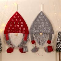 Habitación caliente de Navidad Decoración Calendario de Adviento Hombre Bosque de Navidad Adornos Vestíbulo Home Living Partido puerta de la pared colgante Decoración RRA3706