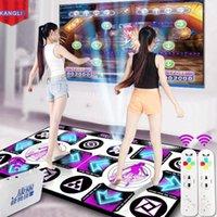 Sensores de movimento Pads de dança KL Double Mat Inglês Menu Anti-Slip Yoga Dancer Cobertor Fitness para PC TV com 2 pcs Sem Fio Remoto1