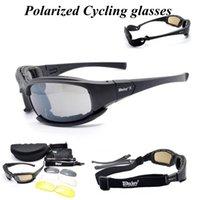 4 lentilles Sports polarisés Hommes Sunglasses Vélo Vélo Vélo Vélo Vélo Vélo Vélos Protection Protection Vélo Verres Q0119