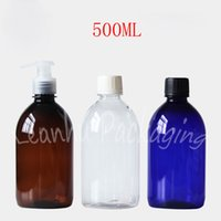 500ML Plastic Bottle With Screw Cap   Pump , 500CC Shampoo Emulsion Packaging Empty Cosmetic Container ( 12 PC Lot )